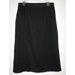 Vintage Charcoal Gray Flannel Pencil Skirt 10